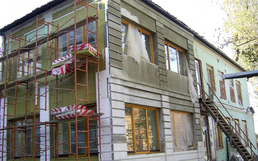 Утепление по системе мокрый фасад